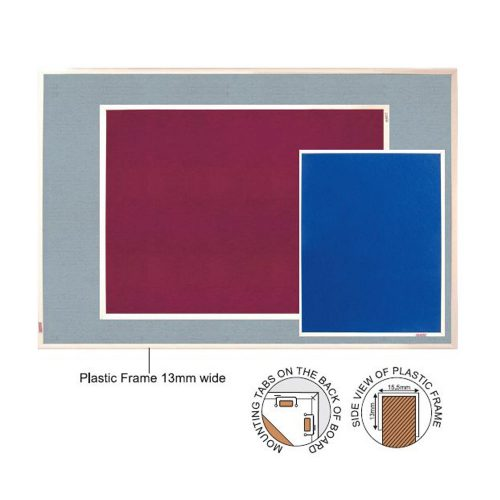 macphersons_fabric_boards_notice_board_Info_Boards_Plastic_Frame_Felt
